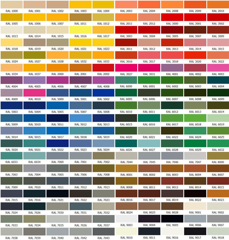 Ctp Saksı Renk Kartelası